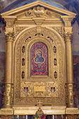 BOLOGNA, ITALY - MARCH 16, 2014: Altar of chapel Cappella della Compagnia della Consolazione from 17. cent. in church San Giacomo Maggiore. — Stock Photo