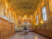 BOLOGNA, ITALY - MARCH 17, 2014: Sacristy of baroque church San Michele in Bosco. — Stockfoto