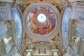 VENICE, ITALY - MARCH 14, 2014: Cupola of Cappella Sagredo from 17. cent. with the fresco by Girolamo Pellegrini in church San Francesco della Vigna. — Stock Photo