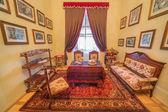 SAINT ANTON, SLOVAKIA - FEBRUARY 27, 2014: Biedermayer saloon from 19. cent. in palace Saint Anton. — Stock Photo