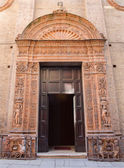 BOLOGNA, ITALY - MARCH 17, 2014: Renaissance portal of church Chiesa Corpus Christi. — Stock Photo