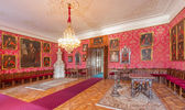 SAINT ANTON, SLOVAKIA - FEBRUARY 26, 2014: Main saloon with the portraits of glorious officers from war with the Turks by Carl Emrich (1727 - 1731) in palace Saint Anton. — Stock Photo