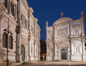 Venice - Scuola Grande di San Rocco and church Chiesa San Rocco in dusk. — Stock Photo