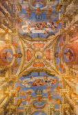 VENICE, ITALY - MARCH 11, 2014: Ceiling fresco from church Chiesa di Sant Alvise by Piero Antonio Torri and Pietro Ricchi (1674). — Stock Photo