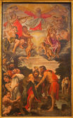 BOLOGNA, ITALY - MARCH 16, 2014: Baptism of Christ scene by Annibale Carracci (1560-1609) in Chiesa di San Gregorio e San Siro. — Stock Photo