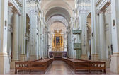 BOLOGNA, ITALY - MARCH 16, 2014: Main nave of Saint Dominic or San Domenico baroque church. — Stock Photo