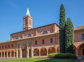 Bologna -  Saint Girolamo church from atrium. — Stock Photo