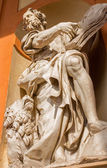 BOLOGNA, ITALY - MARCH 15, 2014: Baroque statue of Saint Mark the Evangelist from west portal of church Chiesa della Madonna di San Luca. — Stock Photo