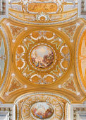 VENICE, ITALY - MARCH 13, 2014: Cupola of church Chiesa dei Gesuiti (Santa Maria Assunta) with the Assumption of Virgin Mary scene in the center. — Stock Photo