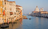 Venice - Canal grande in evening light from Ponte Accademia — ストック写真