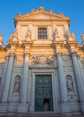 VENICE, ITALY - MARCH 13, 2014: Church Chiesa dei Gesuiti (Santa Maria Assunta) in sunset light. — Stock Photo