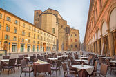 BOLOGNA, ITALY - MARCH 16, 2014: Piazza Galvani square with the Dom or San Petronio church in Sunday morning. — Stock Photo