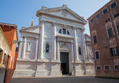 Venice - Portal of church San Francesco della Vigna — Stock Photo