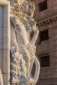 Venedik - gün ışığına doge sarayı'nın dan heykel — Stok fotoğraf