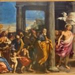 BOLOGNA, ITALY - MARCH 17, 2014: Victorious Christ and the Saints by Lorenzo Pasineli (1657) in presbytery of baroque church San Girolamo della certosa. — Stock Photo #44240207