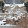 VIENNA - JANUARY 15: Ruins in gardens of Schonbrunn palace in winter. Building was designed by the architect Johann Ferdinand Hetzendorf von Hohenberg on January 15, 2013 in Vienna. — Stock Photo