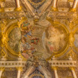 Постер, плакат: BOLOGNA ITALY MARCH 16 2014: Fresco in cupola of Saint Paul or Chiesa di San Paolo baroque church from 17 cent by Antonio and Giuseppe Rolli Sermon of st Paul in Athene is the central scene