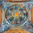 BOLOGNA, ITALY - MARCH 16, 2014: Fresco in cupola of Saint Paul or Chiesa di San Paolo baroque church from 17. cent. by Antonio and Giuseppe Rolli. Saint Paul in heaven is the central scene. — Stock Photo #44246185