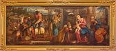 VENICE, ITALY - MARCH 12, 2014: The Adoration on Magi by Bonifacio de Pitati (1487 - 1553) from sacristy of church Baislica di Santa Maria Gloriosa dei Frari. — Stock Photo