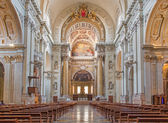 BOLOGNA, ITALY - MARCH 15, 2014: Main nave of Dom or Saint Peters baroque church. — Stock Photo