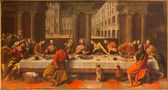 VENICE, ITALY - MARCH 13, 2014: Last supper of Christ (Ultima Cena) by Cesare Conegliano (1583) in church Chiesa dei Santi. XII Apostoli — Stock Photo