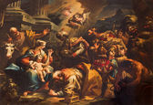 VENICE, ITALY - MARCH 13, 2014: Adoration of Magi scene (1733) by Gaspare Diziani in church Chiesa di San Stefano. — Stock Photo