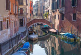 VENICE, ITALY - MARCH 13, 2014: Look to Rio dei Frari canal — Photo
