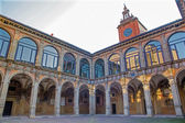 Bologna - atrium of Archiginnasio — Stock Photo