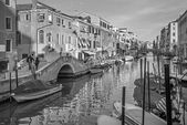 VENICE, ITALY - MARCH 11, 2014: Fondamneta delle Capuzzine street and canal Rio dei San Girolamo. — Stock Photo