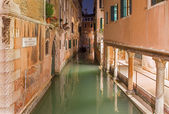 Venice - Look to Rio della Verona at dusk — Stock Photo
