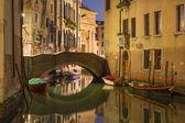 Venice - Look to Rio della Maddalena at dusk — Stock Photo