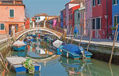 Venice - Houses over canal from Burano island — Stock Photo