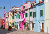 Venezia - case e ailse dall'isola di burano — Foto Stock