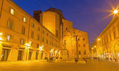BOLOGNA, ITALY - MARCH 15, 2014: Piazza Galvani square with the Dom or San Petronio church in Sunday morning. — Stock Photo
