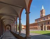 Bologna - Saint Girolamo church from atrium. — Stock Photo