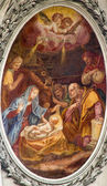 VIENNA, AUSTRIA - FEBRUARY 17, 2014: Nativity paint in  baroque Servitenkirche - church completed in 1670. — Stock Photo