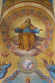 VIENNA, AUSTRIA - FEBRUARY 17, 2014: God the Father. Detail of Big fresco from presbytery of Carmelites church in Dobling by Josef Kastner from years 1906 - 1911. — Stock Photo