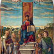 VENICE, ITALY - MARCH 13, 2014: San Marco e Santi (St. Marc and saints) by Girolamo da Santacroce (1490 - 1556) in church of San Martino of Saint Martin on Burano island. — Stock Photo