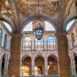 Постер, плакат: BOLOGNA ITALY MARCH 15 2014: Ceiling and atrium from the entry to external atrium of Archiginnasio
