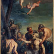 "BOLOGNA, ITALY - MARCH 16, 2014: Paint of ""Coming Martyrdom of the Apostle"" ( st. Andrew) by Antonio Rossi (1700 - 1753) in church Chiesa di San Domenico - Saint Dominic — Stock Photo #48958649"