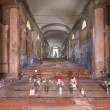 Постер, плакат: BOLOGNA ITALY MARCH 17 2014: Interior corridor of old cemetery certosa by St Girolamo church