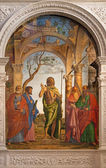 VENICE, ITALY - MARCH 11, 2014: Saint John the Baptist and the saints by Cima da Conegliano (1495) in church Santa Maria dell Orto. — Stock Photo