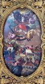 VENICE, ITALY - MARCH 12, 2014: Ceiling of Cappella della SS. Vergine del Rosario from 17. cent. in Basilica di san Giovanni e Paolo church. — Stock Photo