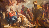 VENICE, ITALY - MARCH 12, 2014: The Adoration of Magi by Antonio Vassilacchi nickname l'Aliense (1556 - 1629) from Chiesa di San Zaccaria church. — Stock Photo