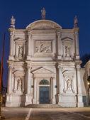 Venice - Scuola Grande di San Rocco and church Chiesa di San Rocco in dusk. — Stock Photo