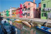 Venice - Houses over the canal from Burano island — Stock Photo