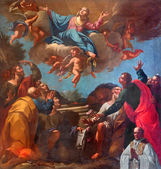 VENICE, ITALY - MARCH 13, 2014: The Assumption of Virgin Mary paint by in church of San Martino or Saint Martin on Burano island by unknown painter of Venice school (18. cent.) — Stock Photo