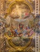 BOLOGNA, ITALY - MARCH 16, 2014: Fresco in cupola of Saint Paul or Chiesa di San Paolo baroque church from 17. cent. by Antonio and Giuseppe Rolli. Sermon of st. Paul in Athene is the central scene. — Stock Photo