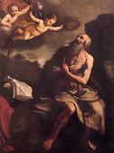 Bolonia, włochy - zm. 16 marca 2014: farba św jerome przez ludovico carracci (1555-1619), kościół san martino. — Zdjęcie stockowe