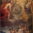 ������, ������: BRUGES BELGIUM JUNE 13 2014: The Holy Trinity at the creation probably by Jan Anton Garemjin 1712 1799 in st Giles Sint Gilliskerk